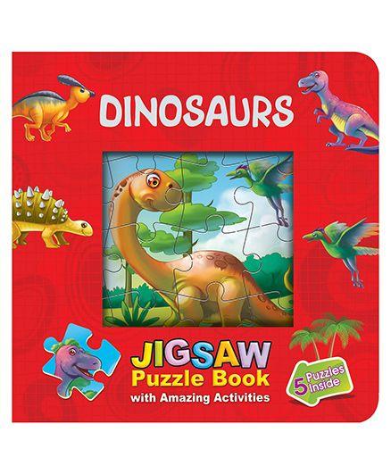 Purple Turtle Dinosaurs Jigsaw Puzzle Book Window - English