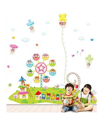 Syga Children Theme Decals Design Wall Sticker Multicolour - 3 Piece