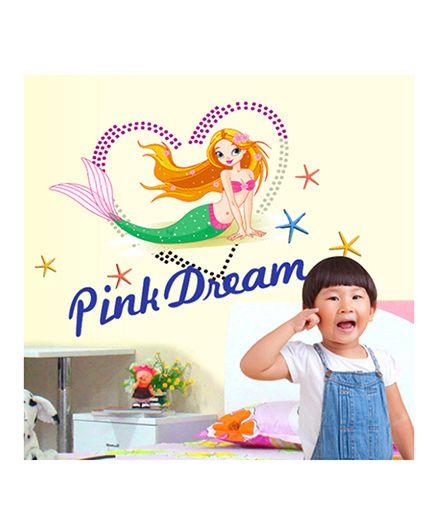 Syga Pink Dream Decals Design Wall Sticker - Multicolour