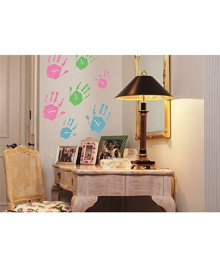Syga Colorful Hand Print Kids Room Decals Design Wall Stickers - Multicolour