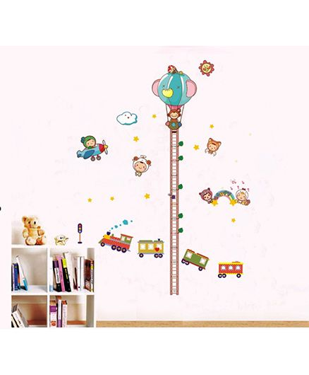 Syga Cartoon Rides Decals Design Wall Stickers - Multicolour