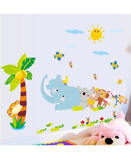 Syga Animals Wall Sticker - Multicolor