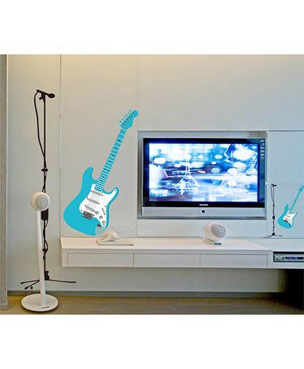 Syga Guitar Wall Sticker - Blue