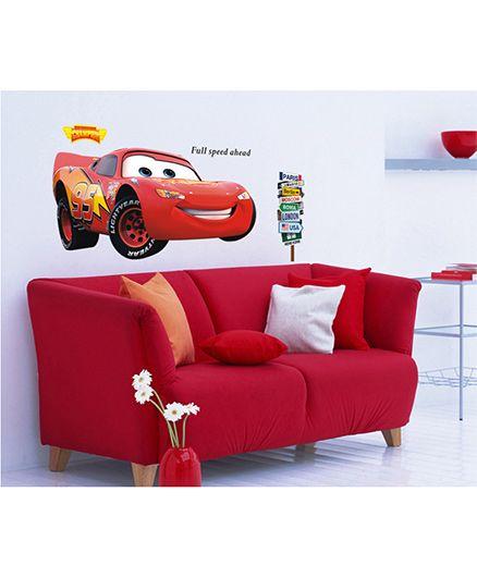 Syga KIds Car Wall Sticker - Multicolor