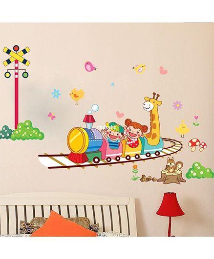Syga Train Wall Sticker - Multicolor