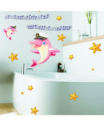 Syga Dolphin Wall Sticker - Multicolor