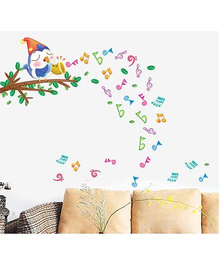 Syga Musical Note Wall Sticker - Multicolor
