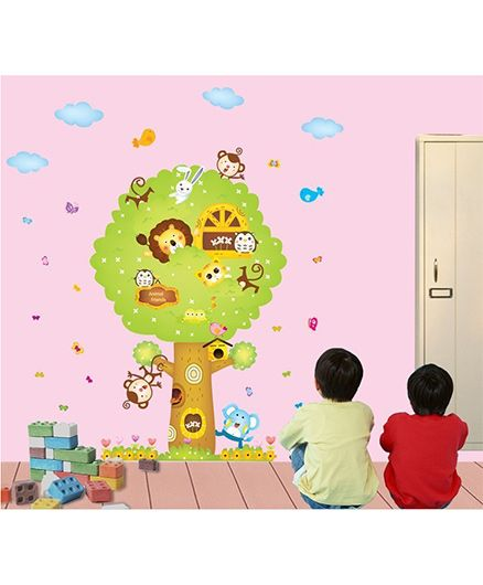 Syga Tree Wall Sticker - Multicolor