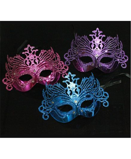 Funcart Fancy Eye Mask Pack Of 3 - Pink Purple Blue