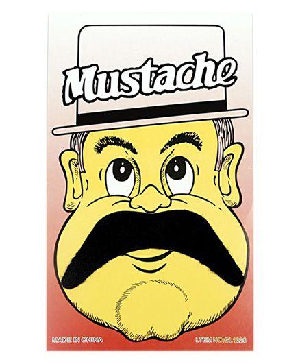 Funcart Stick On Mustache - Black - 1080636