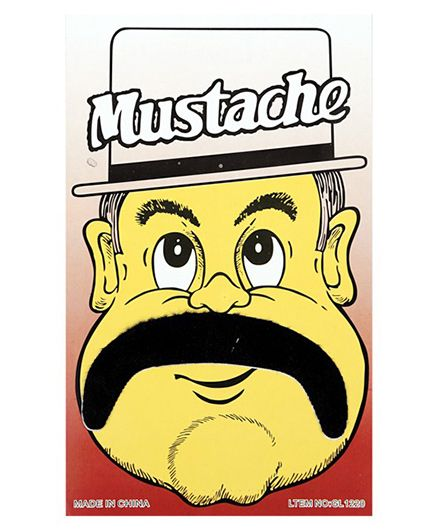 Funcart Stick On Mustache - Black - 1080640