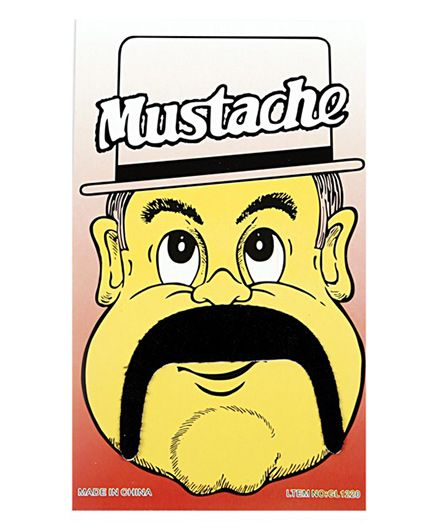 Funcart Stick On Mustache - Black