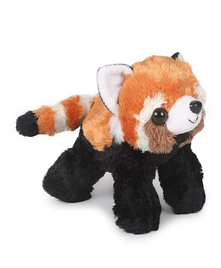 Wild Republic Hug Ems Panda Plush Toy Black & Orange - 17 cm