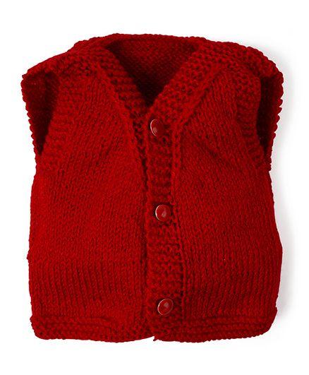 Mayra Knits Trendy Vest - Red