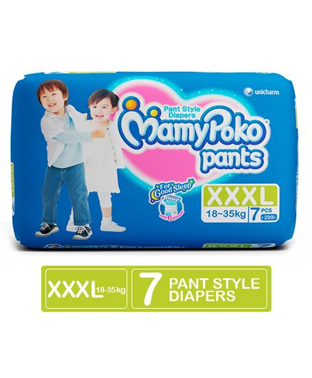 Mamy Poko Pant Style Diapers Extra Extra Extra Large - 7 Pieces