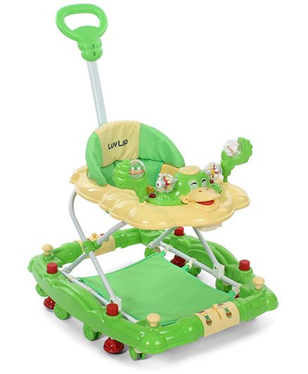 LuvLap Comfy Baby Walker With Rocker Green - 18231