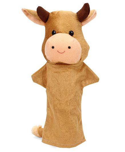 IR Hand Puppet Cow Light Brown - 32 cm
