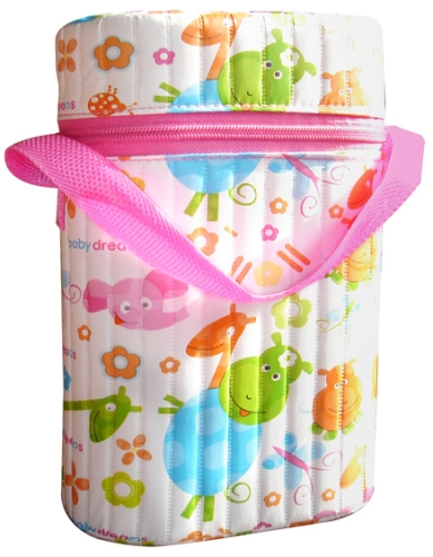 Morisons Baby Dreams Double Bottle Warmer Pink Easy To Carry Bottle Warmer