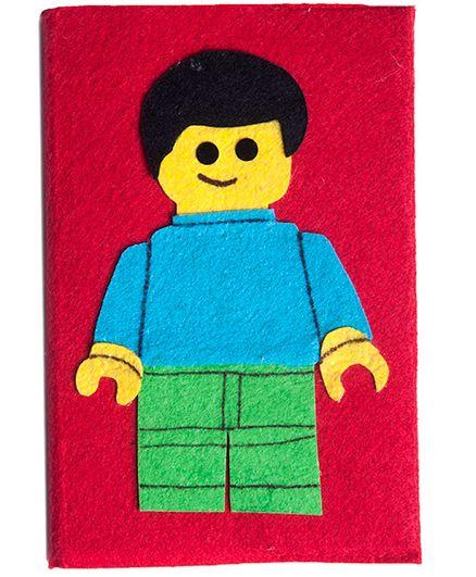 Lill Pumpkins Lego Boy Medium Diary - Red