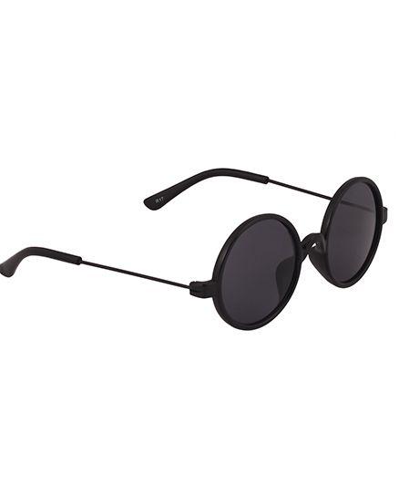 Spiky Classic Round Kids Sun glasses - Black