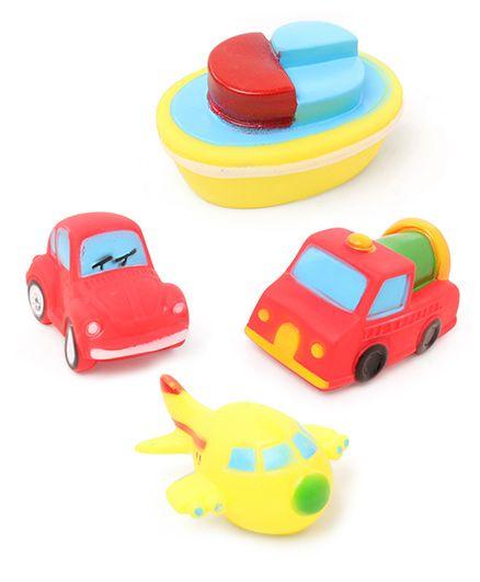 Babyhug Vehicle Bath Toys Set of 4 - Multicolor