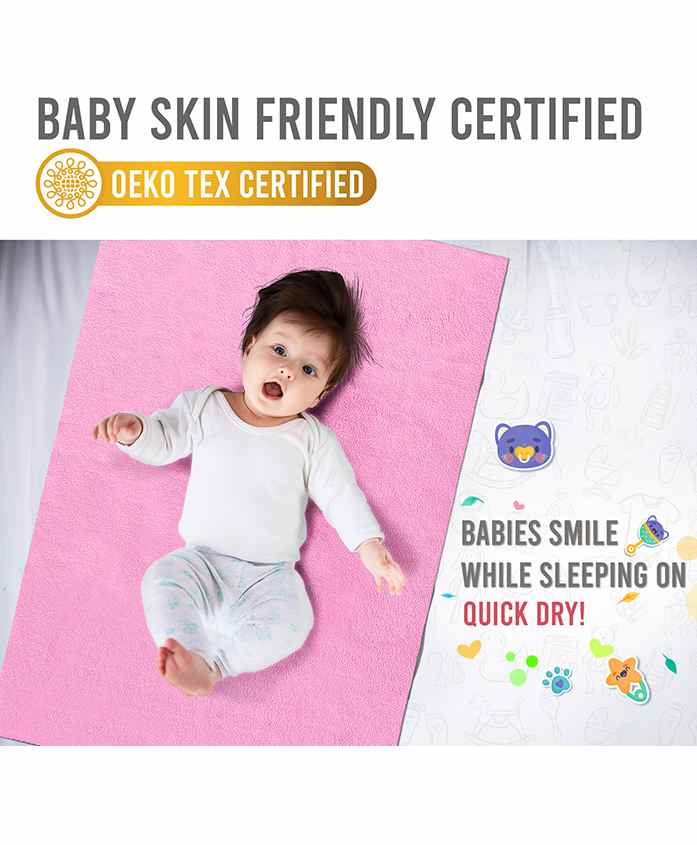 Quick Dry Bed Protector Medium - Pink