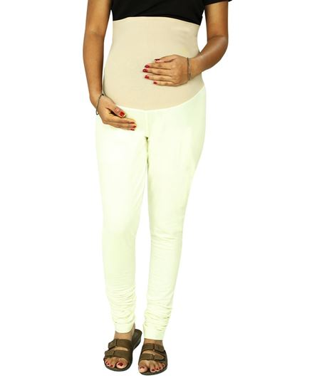 Kriti Ethnic Maternity Knit Churidar With Tummy Tucker - Off White