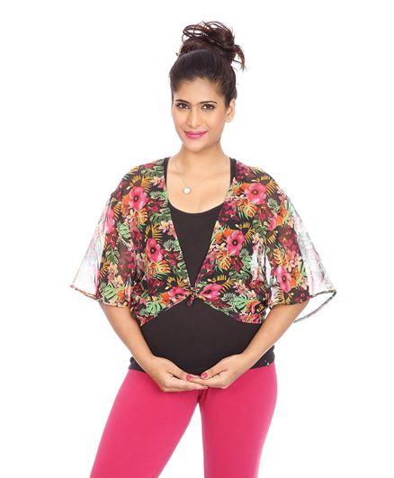 Kriti Western Maternity Woven Top - Multi Colour