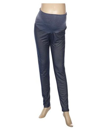Uzazi Full Length Maternity Jeggings - Blue
