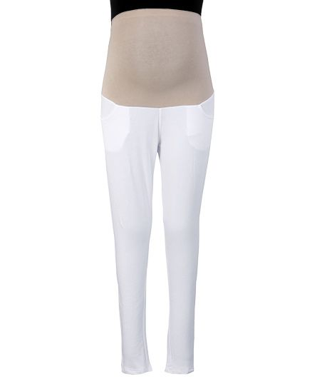 Kriti Ethnic Maternity Jeggings - White