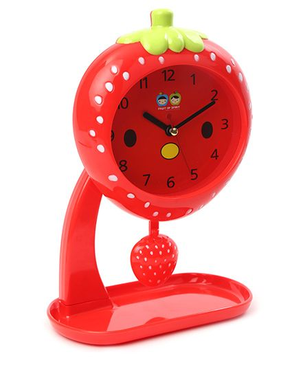 Strawberry Shaped Alarm Clock With Stand - Red