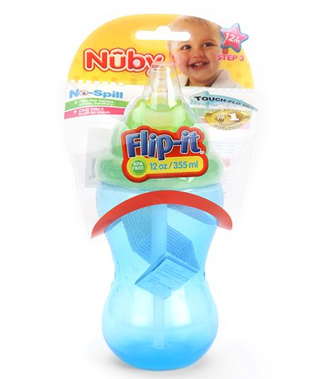 Nuby No Spill Flip It Sipper Blue - 355 ml