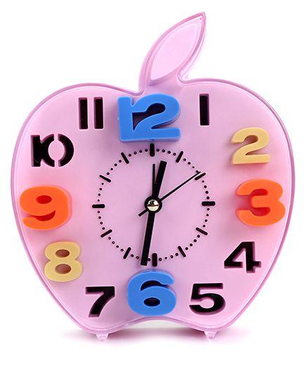 Apple Shape Alarm Clock - Pink