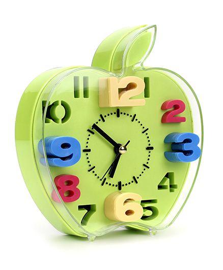 Apple Shape Alarm Clock - Green