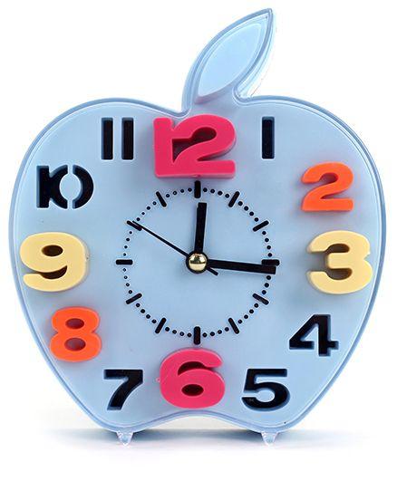 Apple Shape Alarm Clock - Blue