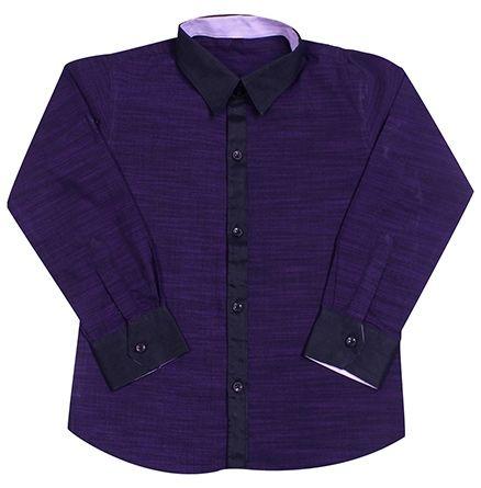 Jonez Full Sleeves Party Wear Shirt - Purple