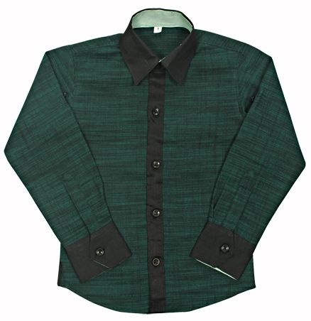 Jonez Full Sleeves Party Wear Shirt - Green