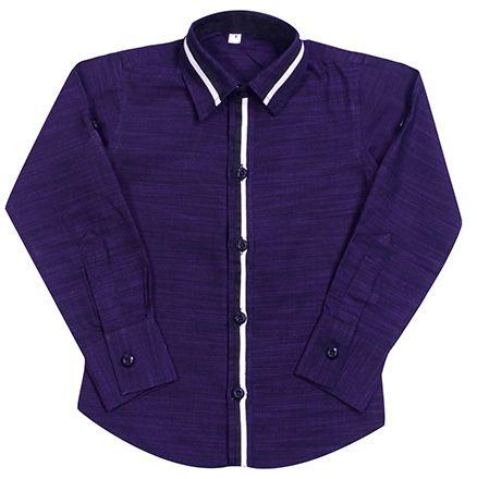 Jonez Party Wear Causal Shirt - Purple