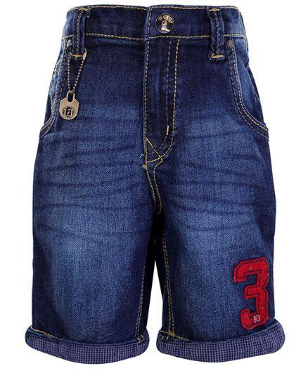 Gini & Jony Denim Shorts with Turn Up Bottom - Navy Blue