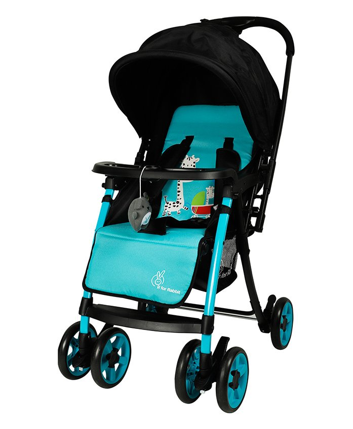 R for Rabbit Poppins An Ideal Pram For Moms - Blue & Black