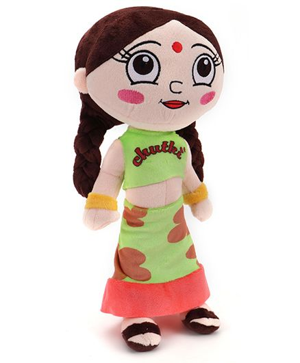 Chutki Plush Toy Green Dress - 33 cm