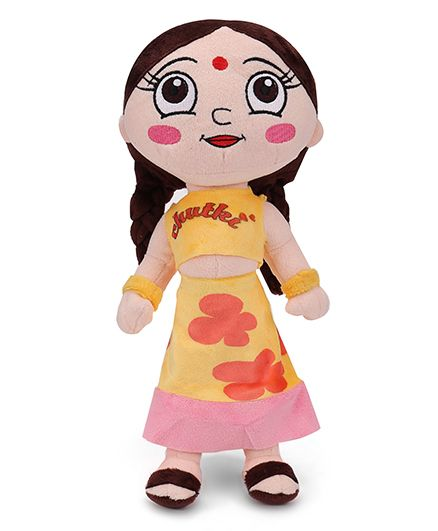Chutki Plush Toy Yellow Dress - 33 cm