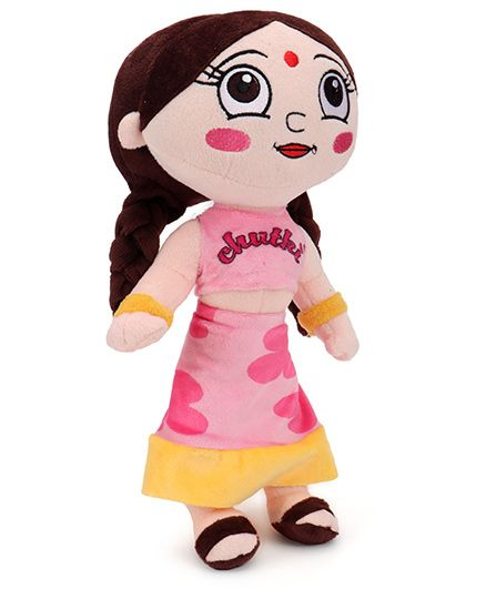 Chutki Plush Toy Pink Dress - 33 cm