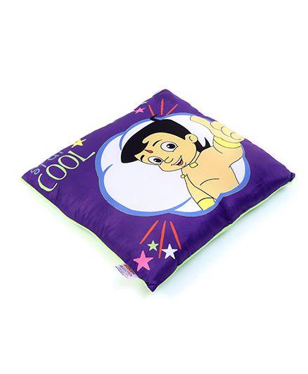 Chhota Bheem Cushion Cool Design - Purple