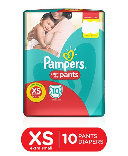 Pampers Pant Style Diapers Light And Dry Extra Small - 10 Pieces
