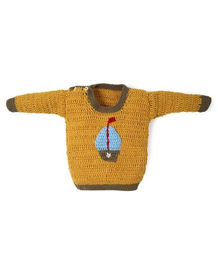 Mayra Knits Sailor Sweater - Yellow