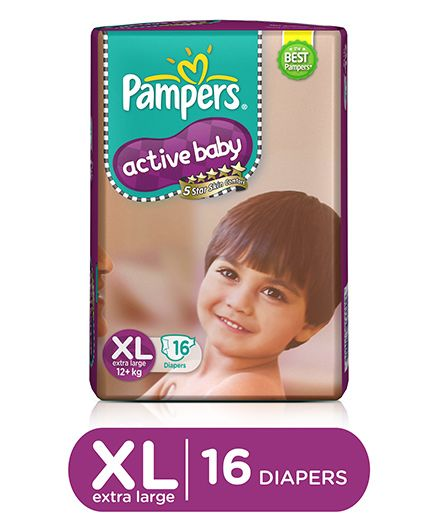 Active Baby Diapers Extra Large 16 Pieces