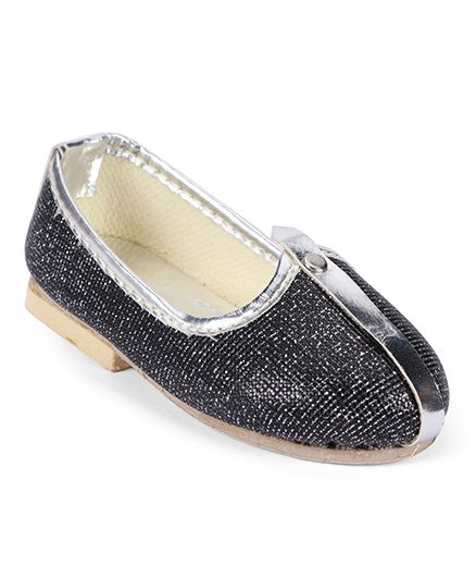 Ethniks Neu Ron Traditional Mojari Shoes - Dark Grey