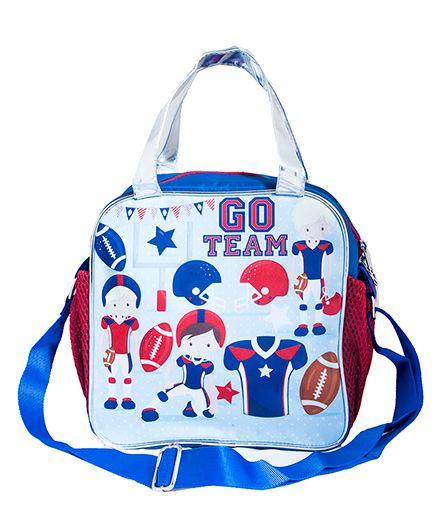 LiLl Pumpkins Go Team Tote & Sling Bag - Blue & White