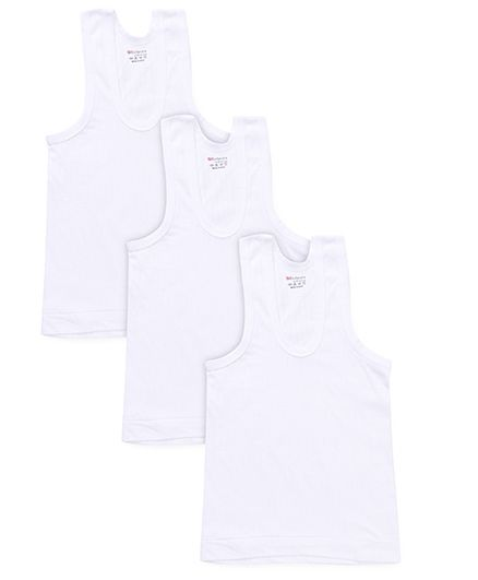 Bodycare Sleeveless Vests Pack Of 3 - White